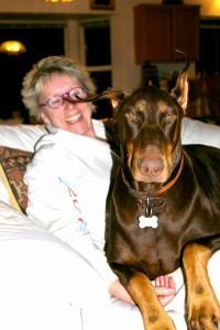 about Lin Wilder Our red Dobie boy who lives in Max
